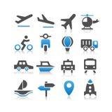 Transportation icons set Stock Image