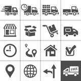 Transportation icons set. Simplus series Stock Photos