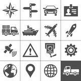 Transportation icons set. Simplus series Royalty Free Stock Photo