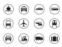 Transportation icons set Royalty Free Stock Photos