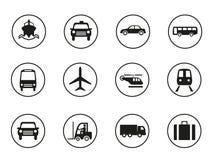 Transportation icons set Royalty Free Stock Photos