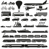 Transportation icons set vector Royalty Free Stock Image