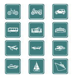 Transportation icons | TEAL series Royalty Free Stock Photo