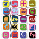 Transportation icons Stock Photo