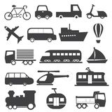 Transportation Icons Vector Collection Stock Photo