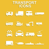 Transportation icons. Vector Stock Photography