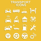 Transportation icons. Vector Stock Photo