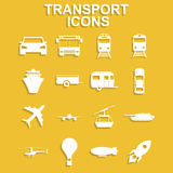 Transportation icons. Vector Stock Image