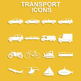 Transportation icons. Vector Royalty Free Stock Images