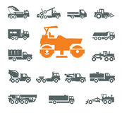 Transportation icons. Vector format Stock Photos