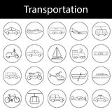 Transportation icons vector illustration set collection Royalty Free Stock Image