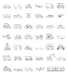 Transportation icons vector illustration set collection Royalty Free Stock Photo