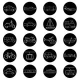Transportation icons vector illustration set collection Stock Photo