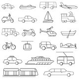 Transportation icons vector illustration set collection Royalty Free Stock Photography