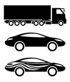 Transportation icons. Royalty Free Stock Photo