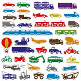 Transportation icons. Stock Image