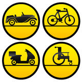 Transportation icons. Stock Photos