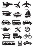 Transportation icons. Vector set Royalty Free Stock Photography