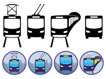 Transportation icons. Royalty Free Stock Images