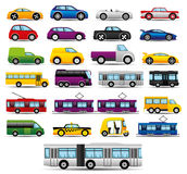 Transportation icons. Stock Images