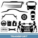 Transportation icons. Royalty Free Stock Photos