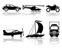 Transportation icons. Royalty Free Stock Photography