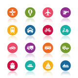 Transportation icons stock illustration