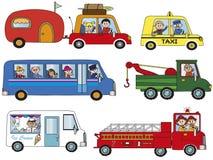 Transportation. Illustration of funny cartoon transportation Stock Photos