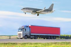Transportation, import-export and supply concept Stock Photos