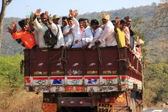 Transportation in India. In India, many modes of transportation are used that are not considered in the Western Hemisphere. These men ride in the back of a lorry stock images
