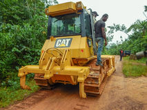 Transportation of industrial equipment in Africa, Liberia Royalty Free Stock Images