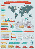Transportation Info graphic elements Stock Photos