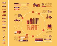 Transportation Infographic Template. Royalty Free Stock Photography