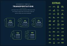 Transportation infographic template and elements. Royalty Free Stock Photography