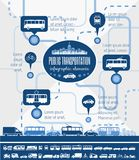 Transportation Infographic Template. Stock Photography