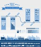 Transportation Infographic Template. Royalty Free Stock Photo