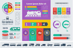 Transportation Infographic Template. Stock Image