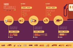 Transportation Infographic Template. Stock Photo