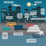 Transportation infographics Stock Photo