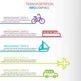 Transportation infographics stock illustration