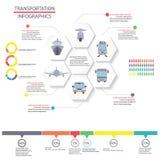Transportation infographics Stock Image