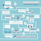 Transportation infographics Royalty Free Stock Images