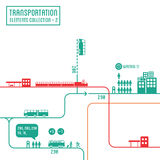 Transportation infographics Royalty Free Stock Photo
