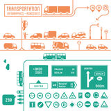 Transportation infographics - roadsigns Royalty Free Stock Images