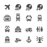 Transportation and infrastructure icon set, vector eps10.  Stock Photo