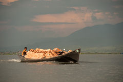 Transportation in Inle lake,Myanmar. Royalty Free Stock Photography
