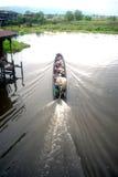 Transportation in Inle lake,Myanmar. Stock Image