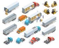Transportation Isometric Elements Set Royalty Free Stock Photo