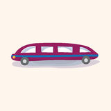 Transportation limo theme elements vector,eps Royalty Free Stock Photography