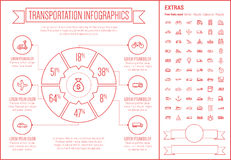 Transportation Line Design Infographic Template Stock Image